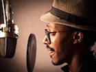 Jazz Singer Recording Vocals
